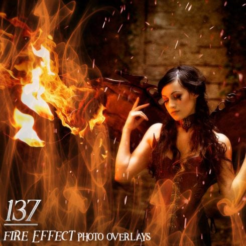 137 Fire Effect Photo Overlays - 600 18 490x490