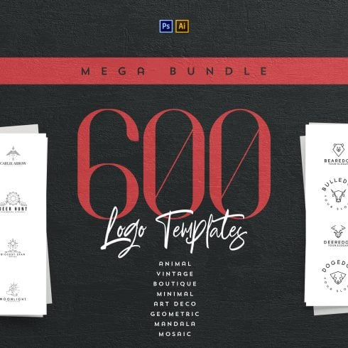 10 Vintage Logo Designs with 90% OFF