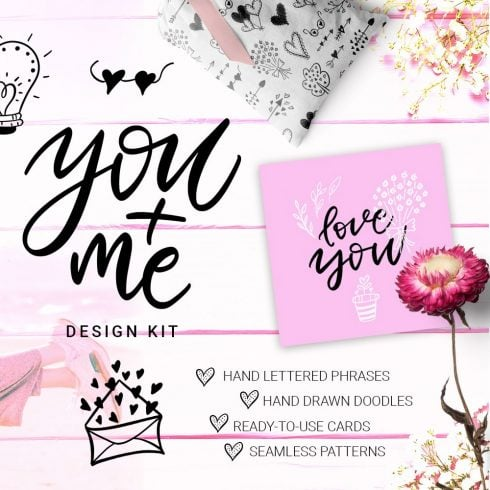 You + Me: Handdrawn Design Kit - $12 - 600 25 490x490