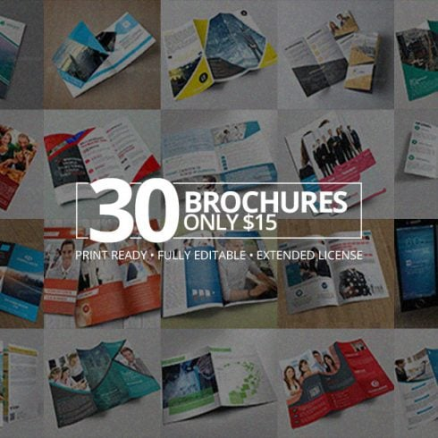 30 Creative Brochures with Extended License - Only $15 - 600 33 490x490