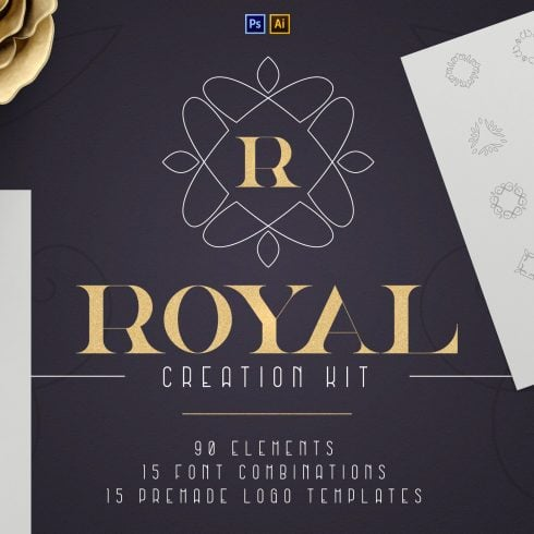 Graphic Design Shapes - Royal Creation Kit 100 Elements. Only $19 - 600 38 490x490