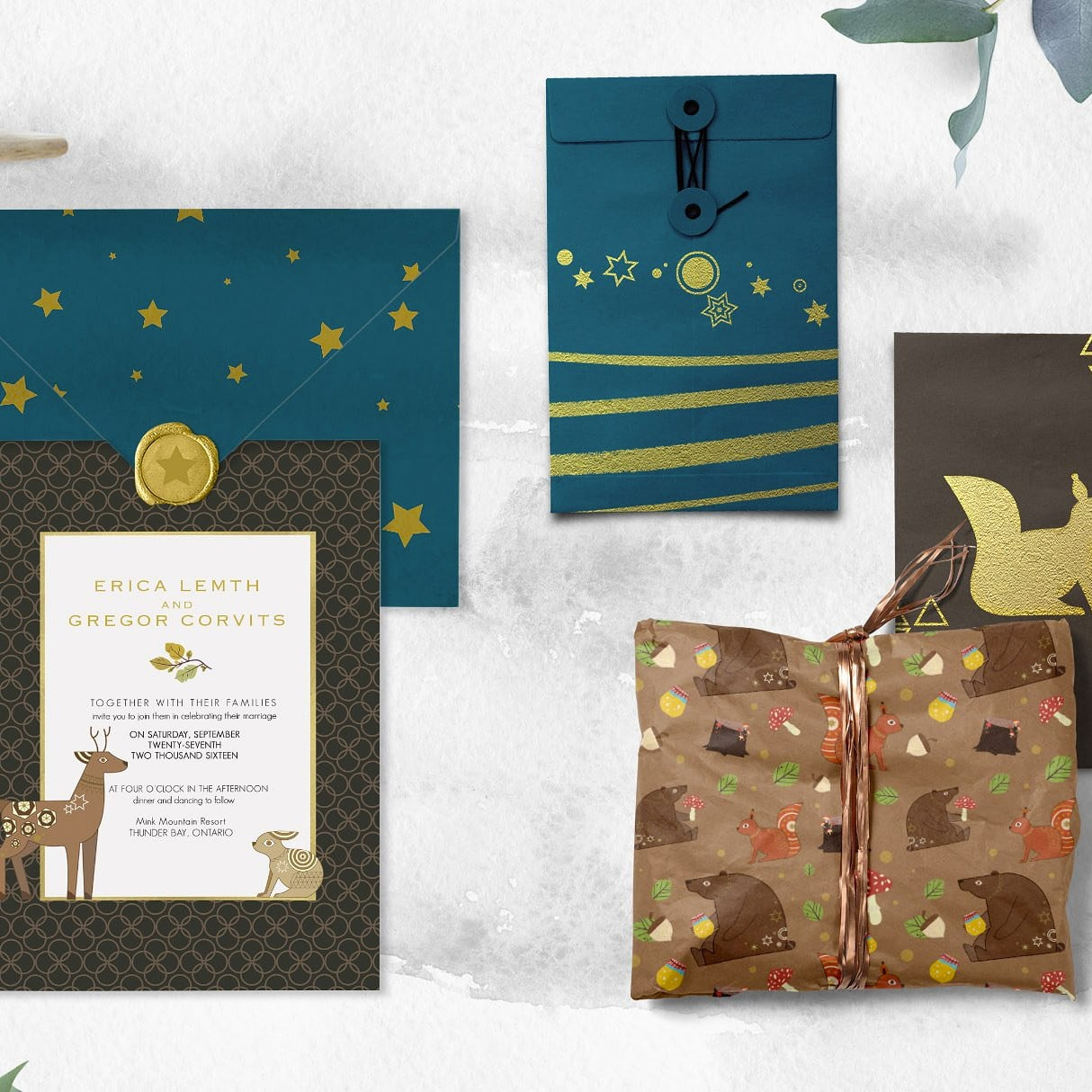 Folk Tale: a Set of Animals Illustrations and Decorative Elements cover image.