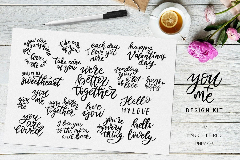 You + Me: Handdrawn Design Kit - $12 - Love Presentation2 min