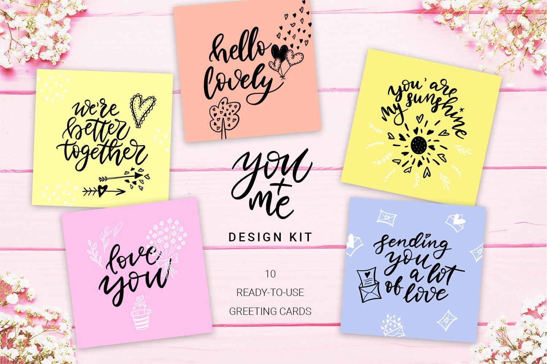 You + Me: Handdrawn Design Kit - $12 - Love Presentation7 min
