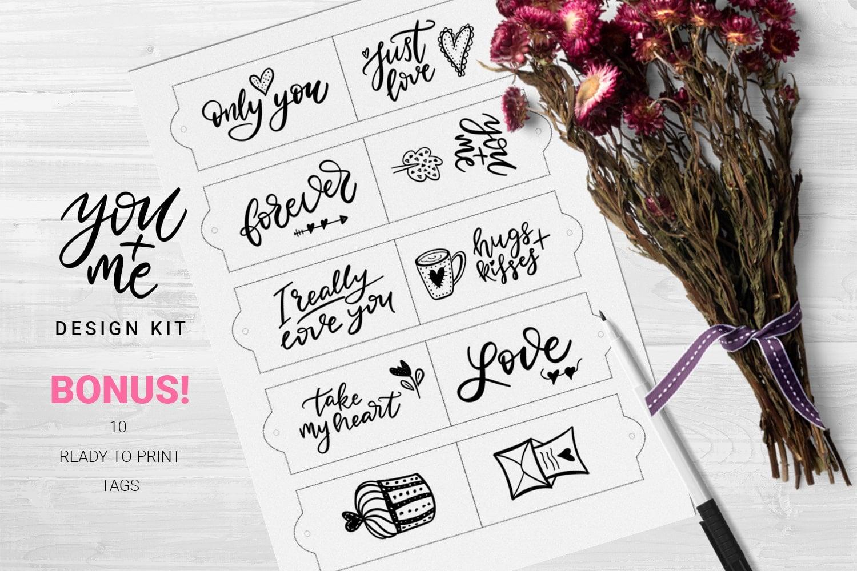 You + Me: Handdrawn Design Kit - $12 - Love Presentation8 min