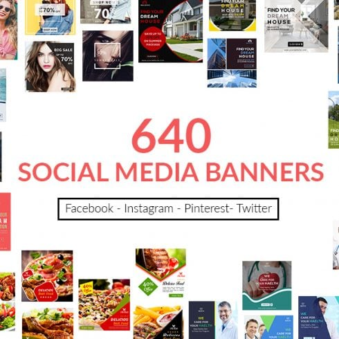 640 Templates for Facebook, Instagram, Twitter, Pinterest - $15 - P1 490x490
