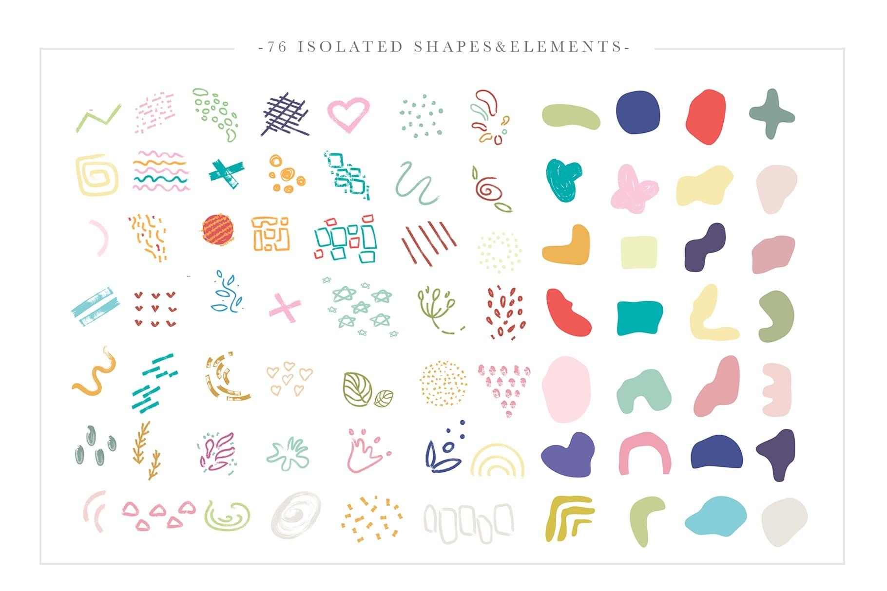 La Liberte Creative Set (Abstract Shapes and Elements) - $15 - Prev2 min