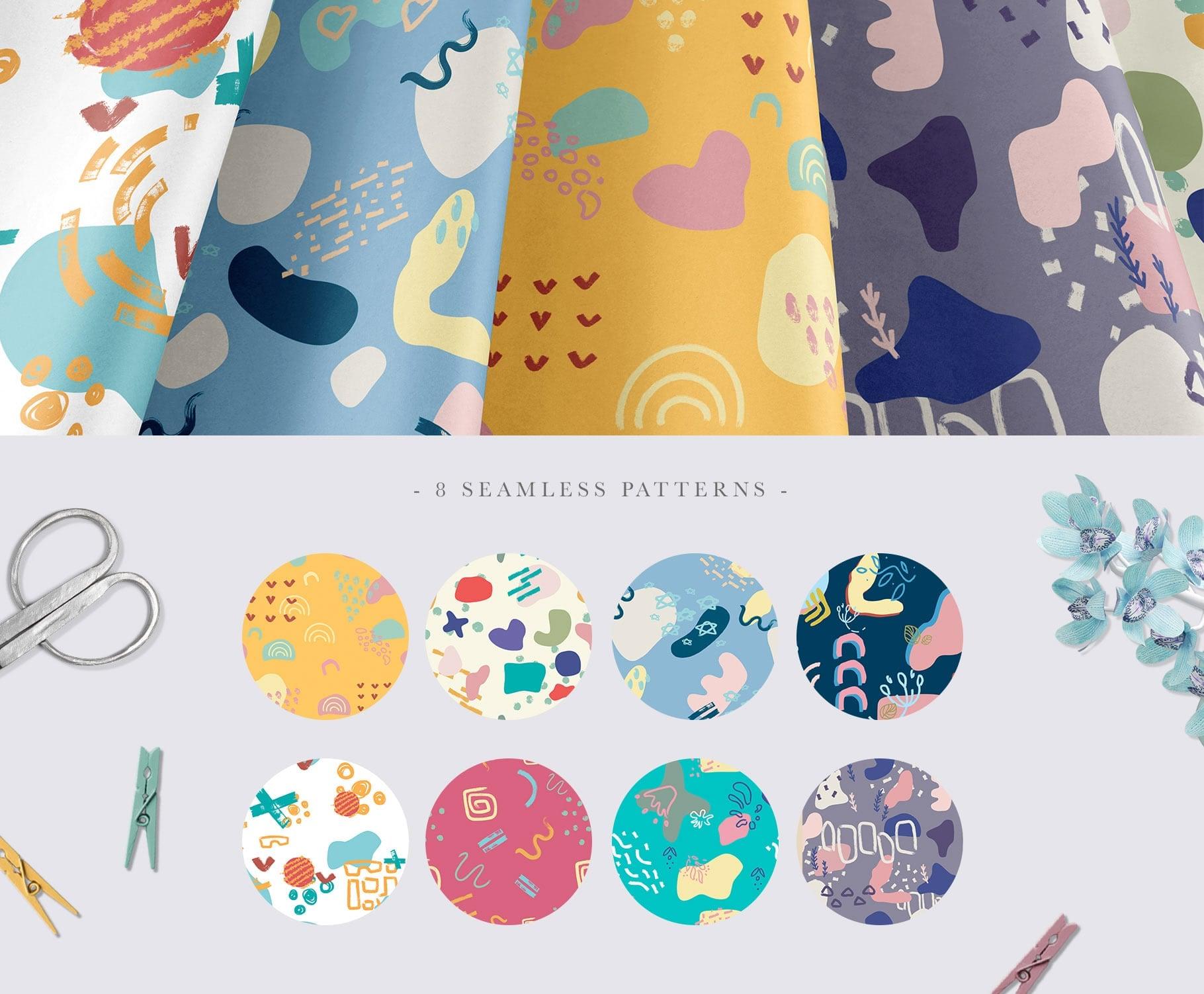 La Liberte Creative Set (Abstract Shapes and Elements) - $15 - Prev6 min