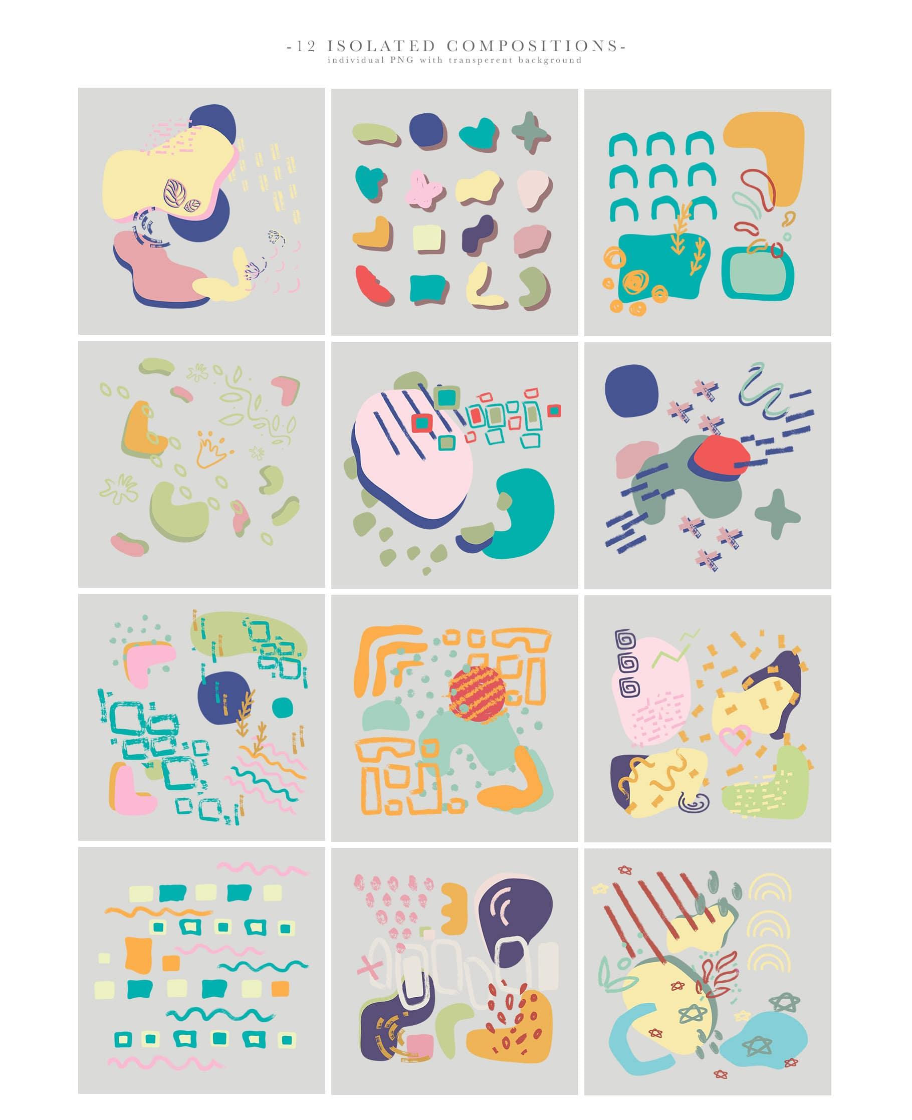 La Liberte Creative Set (Abstract Shapes and Elements) - $15 - Prev7 min