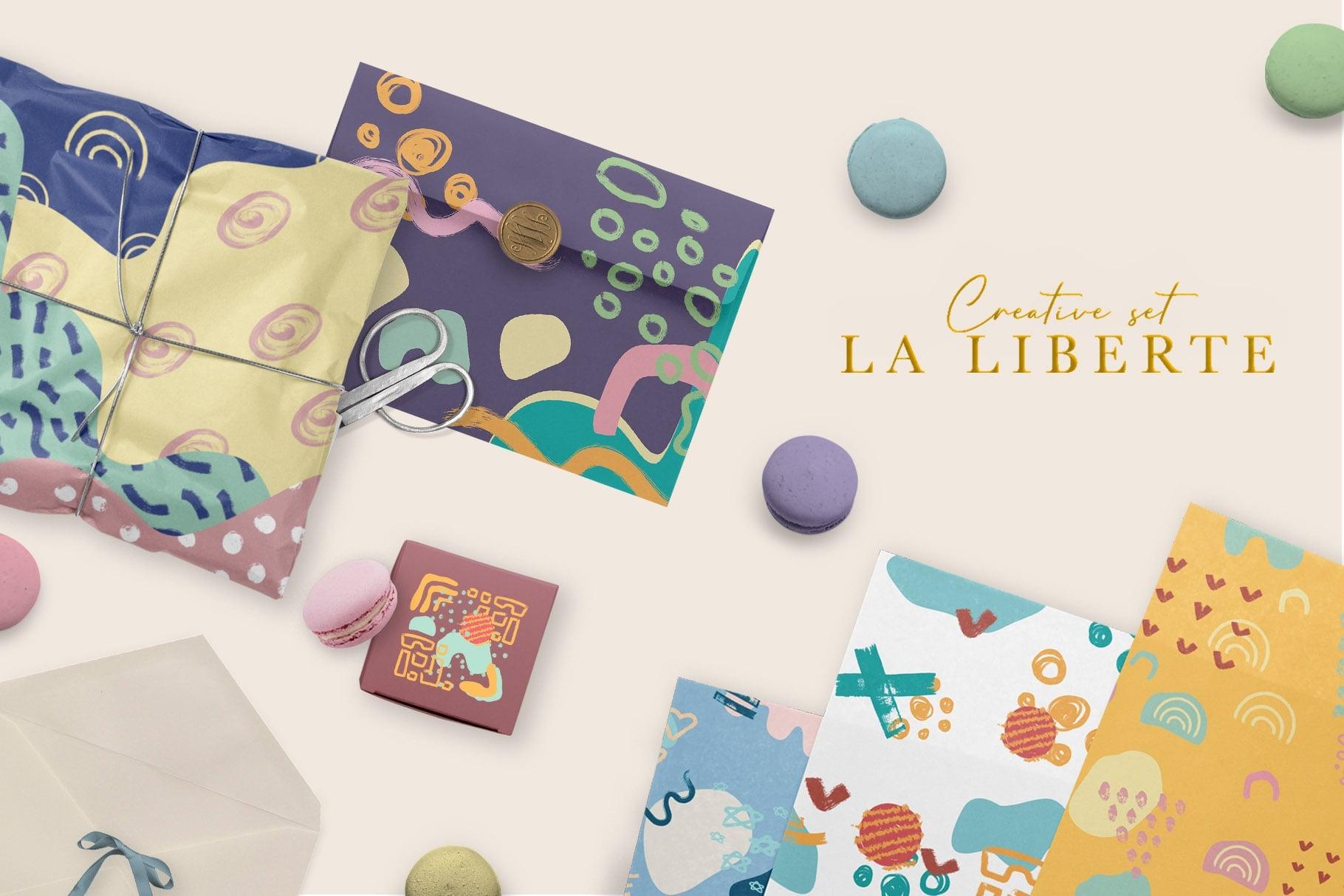 La Liberte Creative Set (Abstract Shapes and Elements) - $15 - Prev8 min
