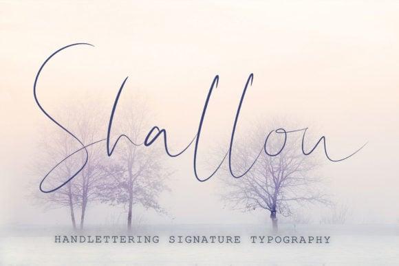 Shallou Script Font - $7 ONLY - Shallou Script by NoiStudioCrafts 580x387