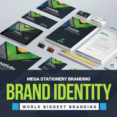 Author - Stationery Mega Branding Identity Deal Banner 490x490