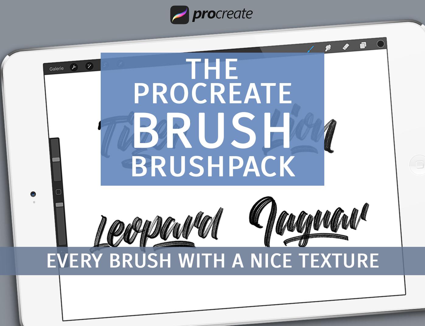 Brush brushpack for Procreate - $5 ONLY - brush brushpack hero