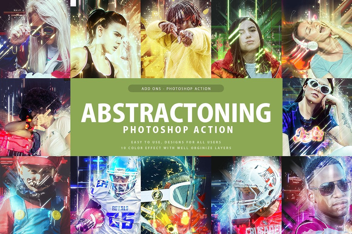Abstracting Photoshop Action