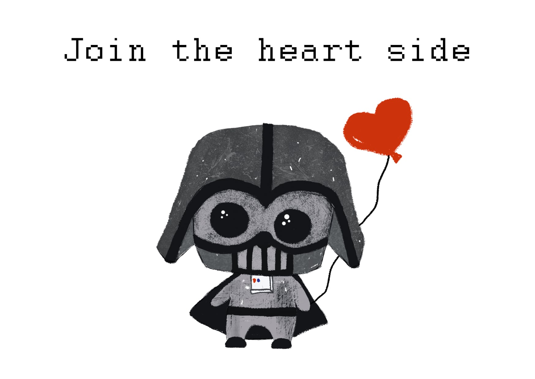 PRINTABLE Darth Vader Valentine card [Star Wars] - darthlove