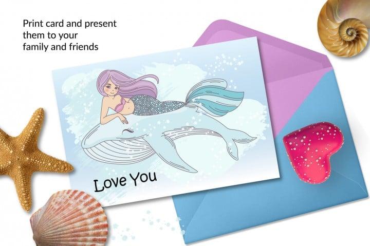 Little Mermaid Clipart: Mermaid Tail Clipart Vector Illustrations - $8 - efec706b5d2002c68e3285ada9c8ed0719f6bbbf