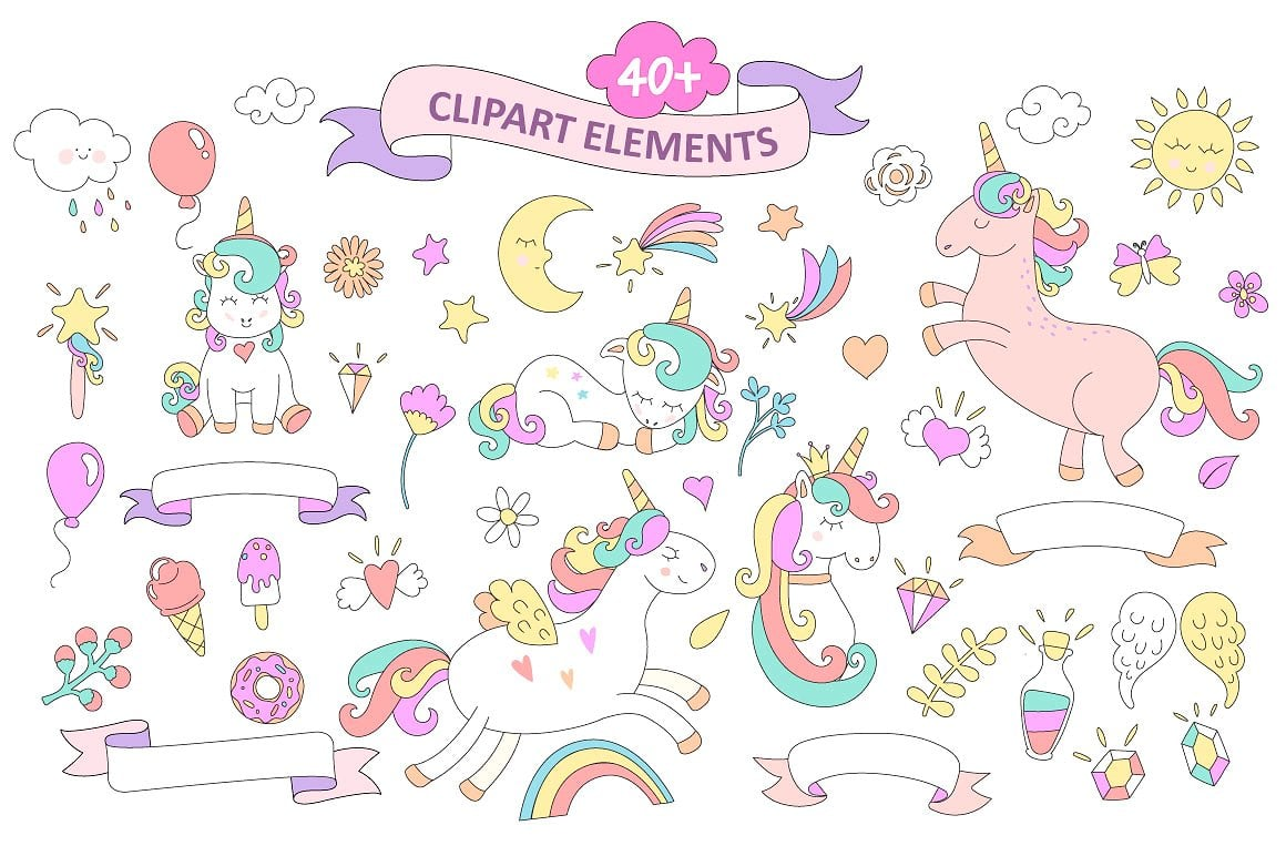 50+ Best Unicorn Background & Patterns in 2020: Free And Premium - elements