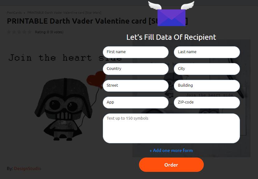 PRINTABLE Darth Vader Valentine card [Star Wars] - image2