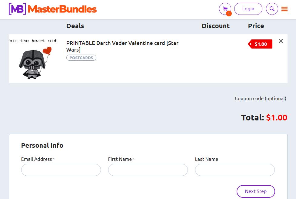 PRINTABLE Darth Vader Valentine card [Star Wars] - image4