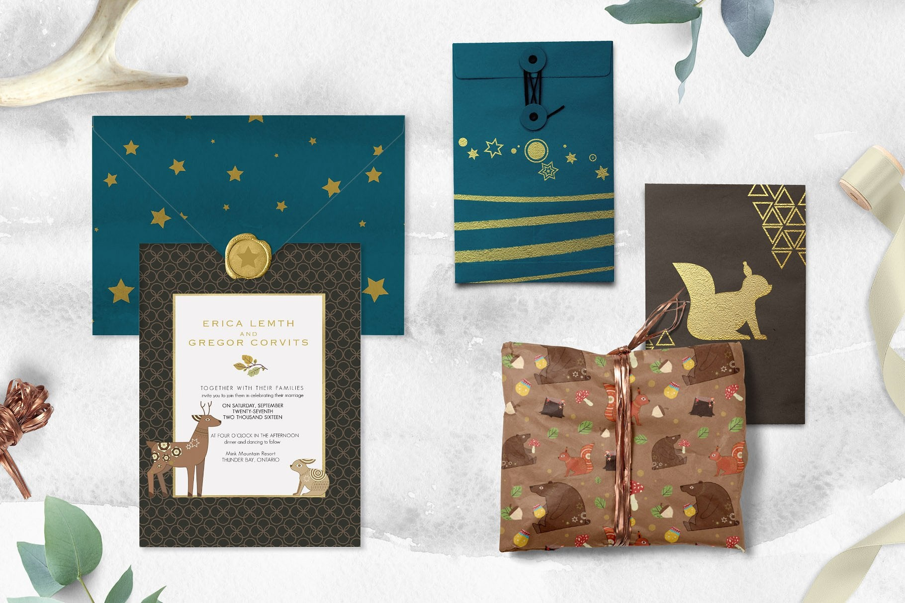 Folk Tale: a Set of Animals Illustrations and Decorative Elements - prev10