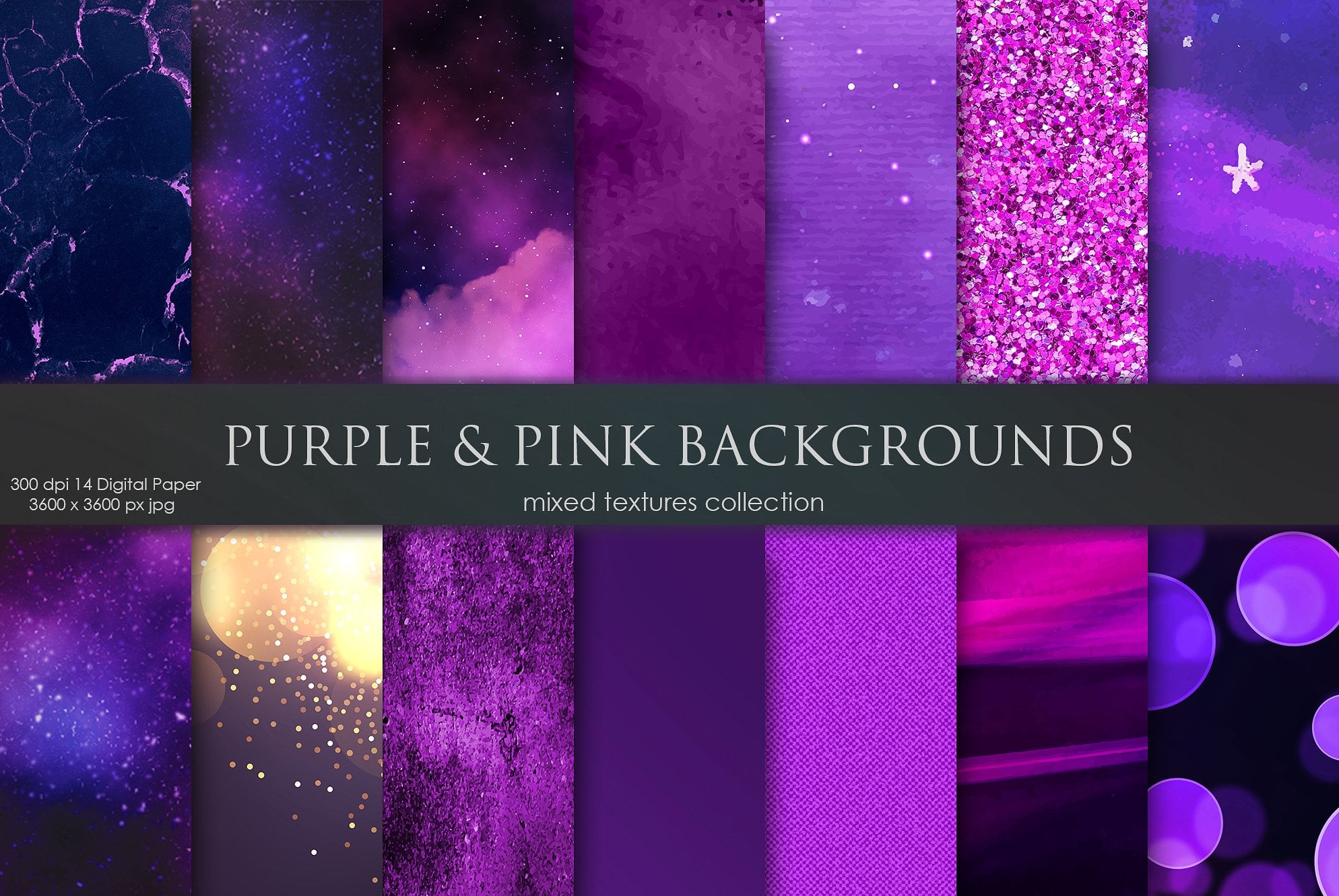 Purple & Pink Galaxy Backgrounds