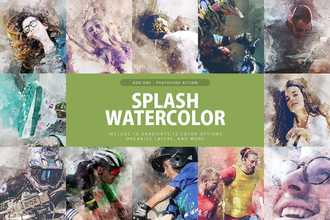 Splash Watercolor Photoshop Action