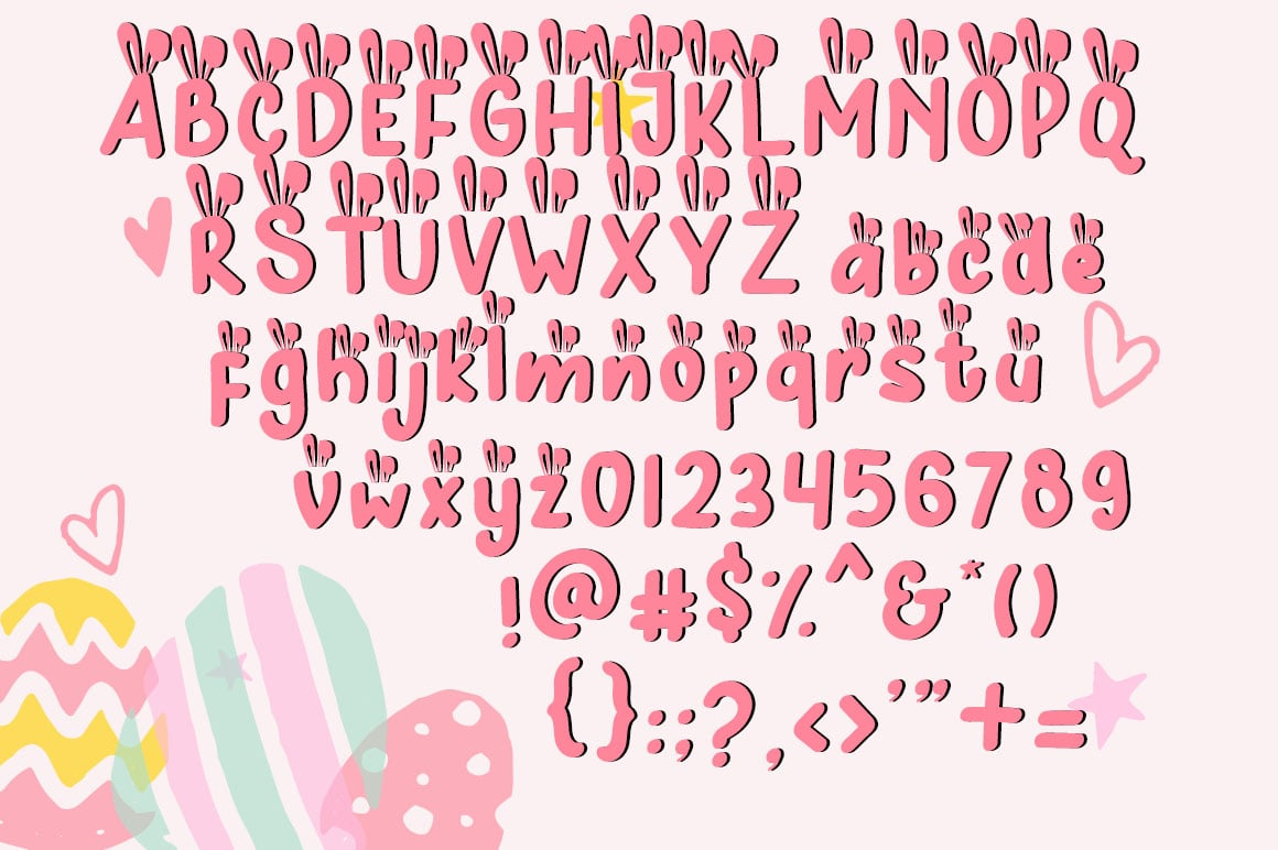 Hunny Bummy Easter Crafty Font