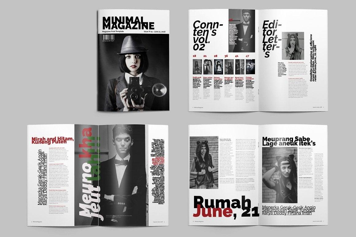 Minimal Magazine A4 - $5 - 6