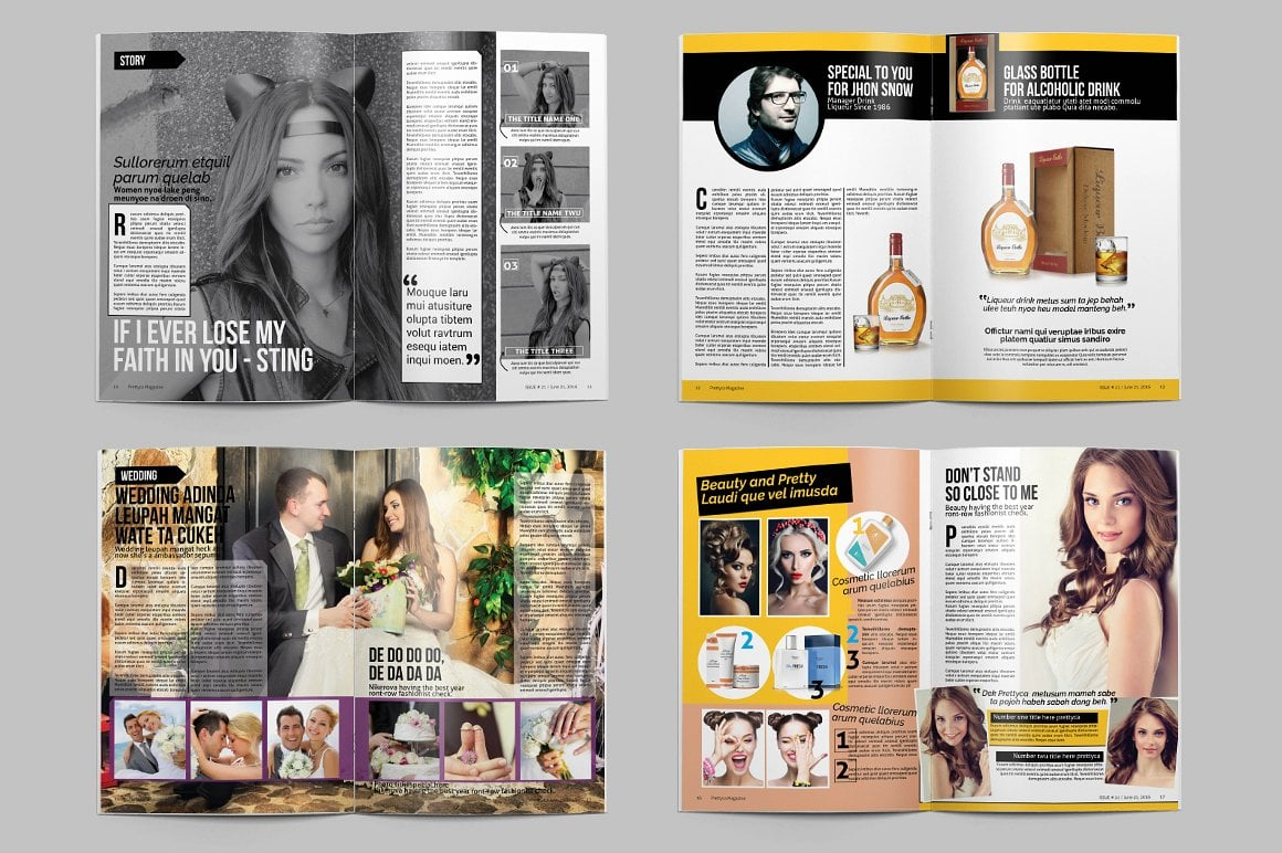 Prettyca Magazines [30 inDesign Pages]
