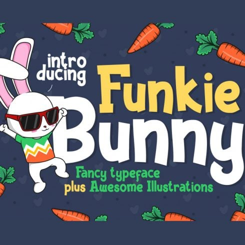 Funkie Bunny Easter Font - $4 - 600 17 490x490