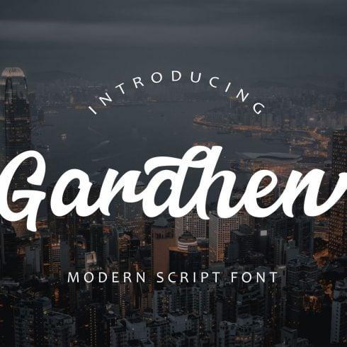 Gardhen Modern Script font - $14 - 600 22 490x490