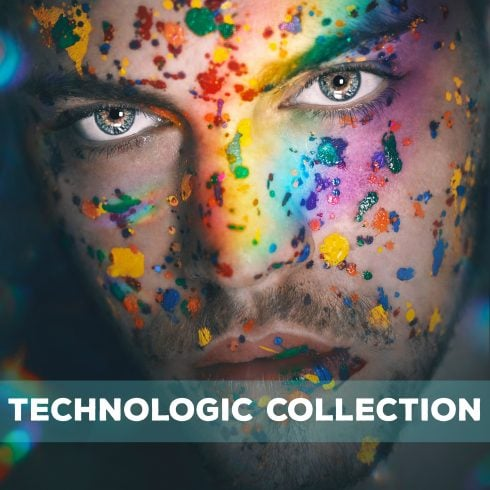 Technologic Collection: 910 Overlays, Textures and Backgrounds - 600 23 490x490