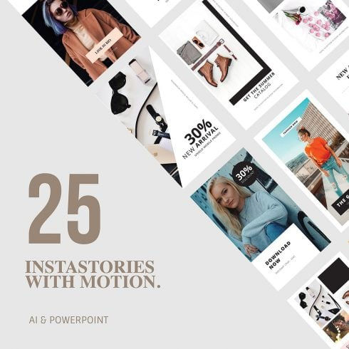 25 Animation Instagram Stories and PowerPoint Templates - 600 29 490x490