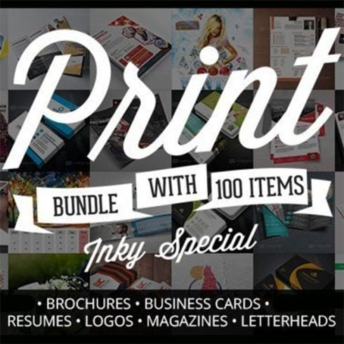 Elegant Print Templates Bundle with 100 Items - Only $19 - 600 4 490x490