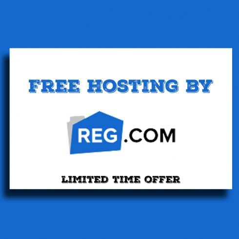 Free Shared Hosting from REG.com - 600 490x490
