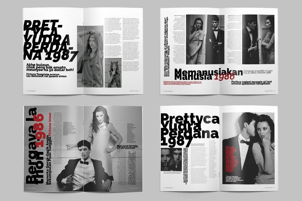 Minimal Magazine A4 - $5 - 8
