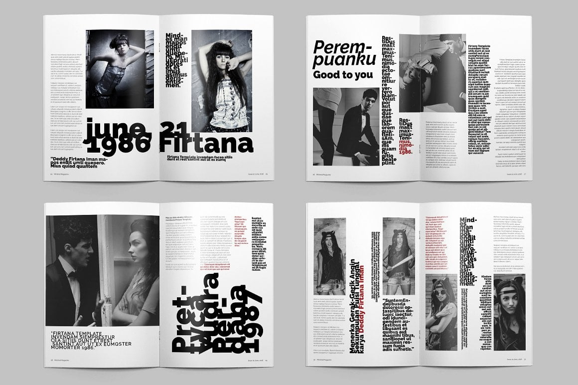 Minimal Magazine A4 - $5 - 9