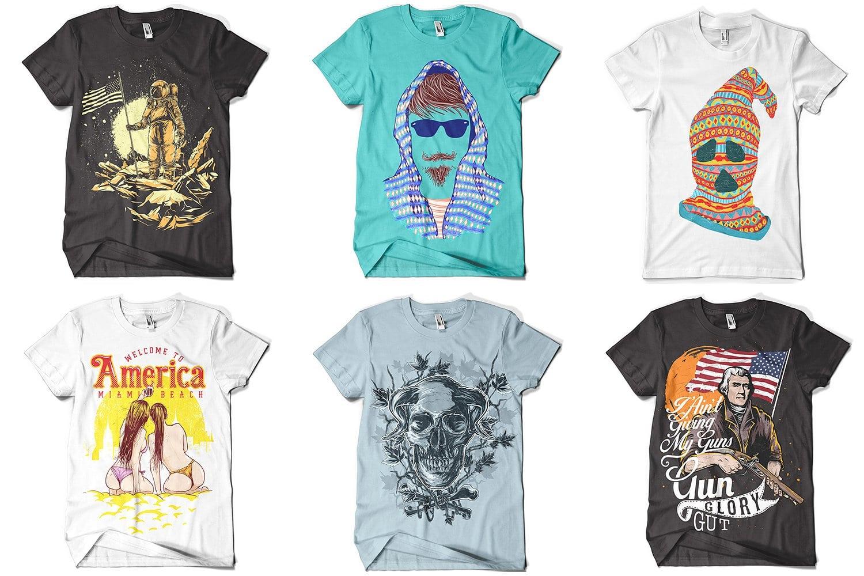 Colorful and stylish t-shirts.