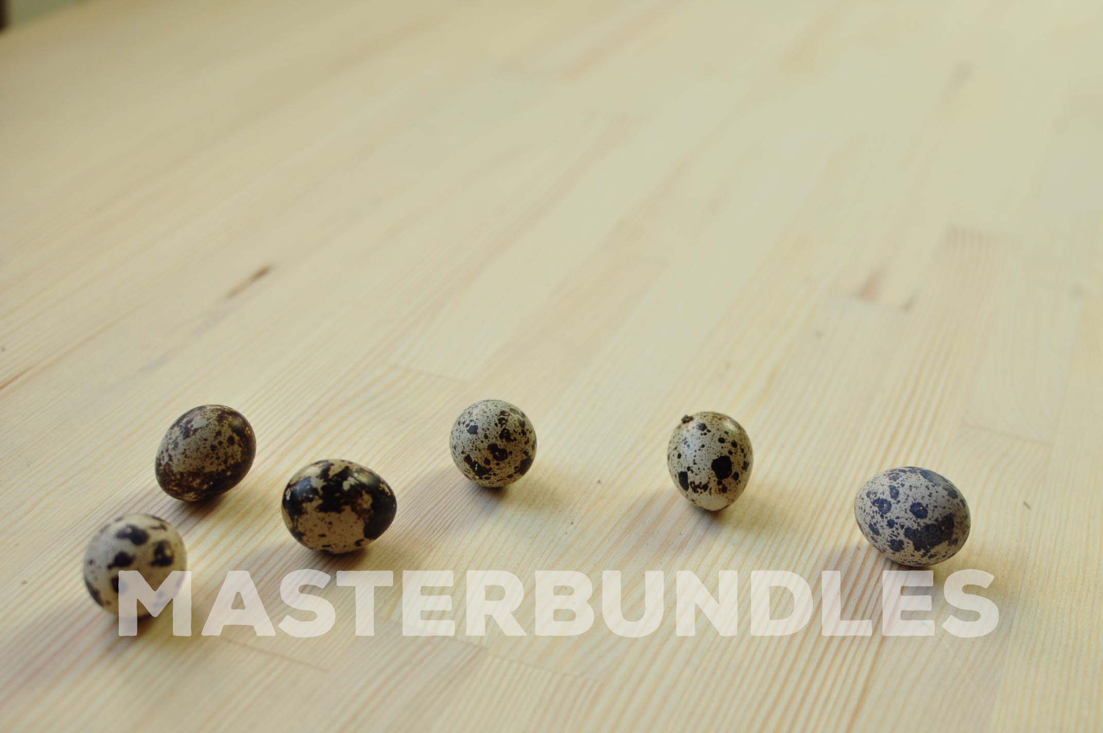 Several lonely quail eggs.