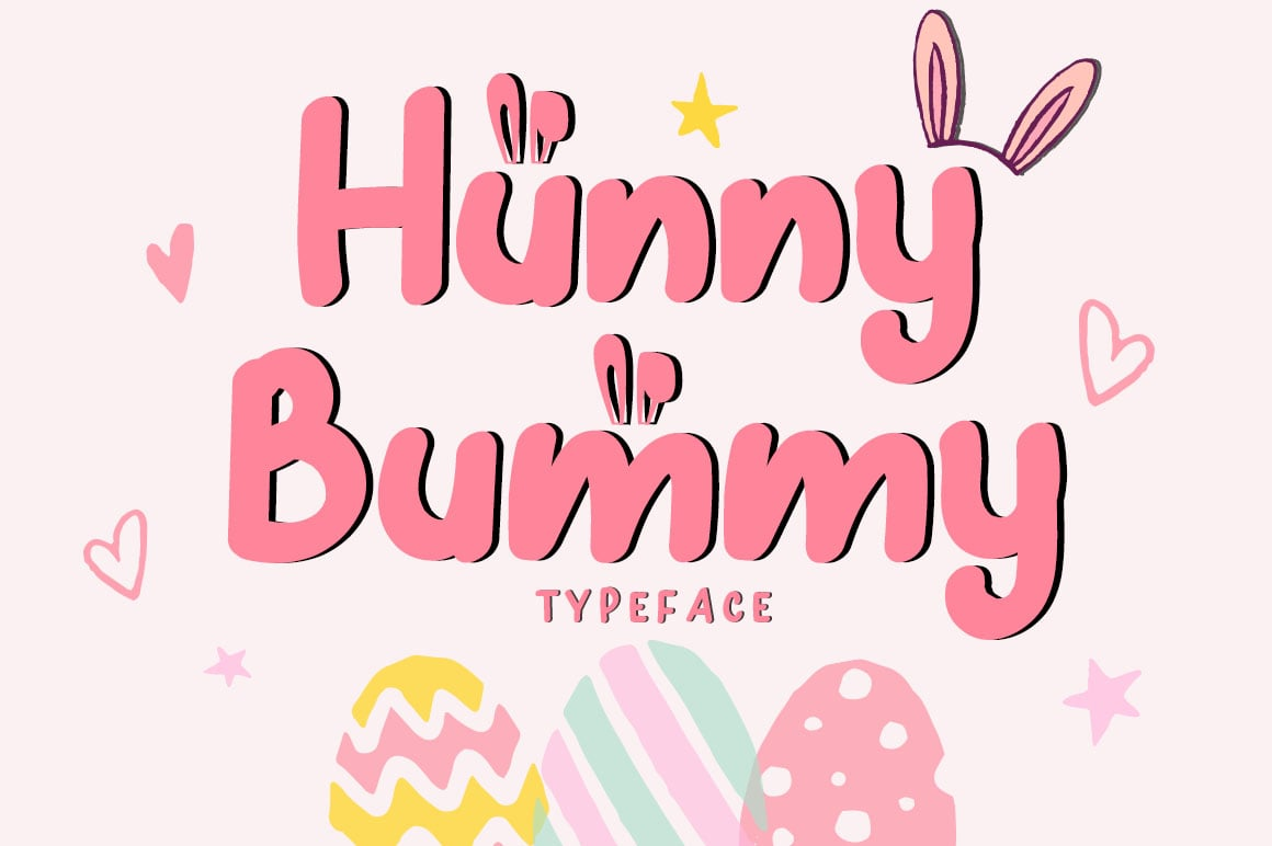 Hunny Bummy Easter Crafty Font - $8 - Untitled 1