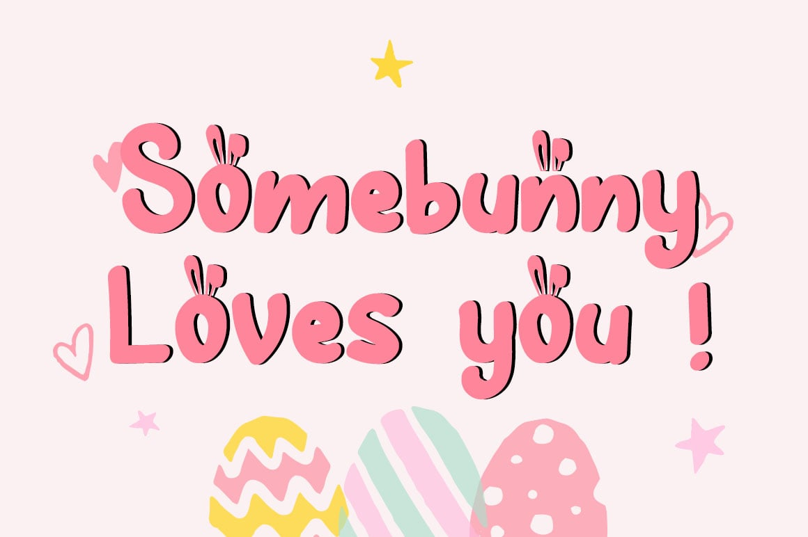 Hunny Bummy Easter Crafty Font - $8 - Untitled 2