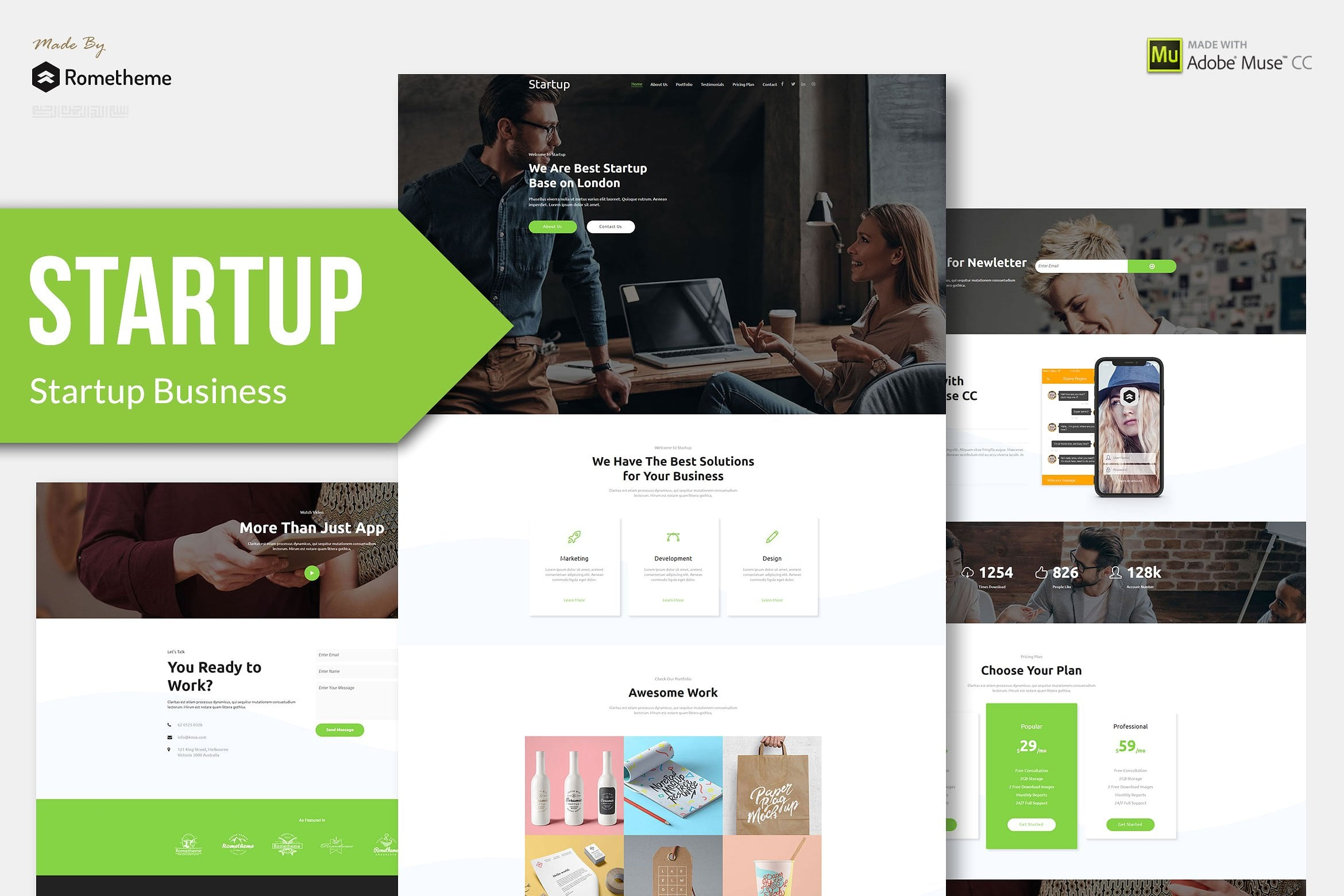 10 in 1 - Adobe Muse Template Bundle - Only $10 - coverimage