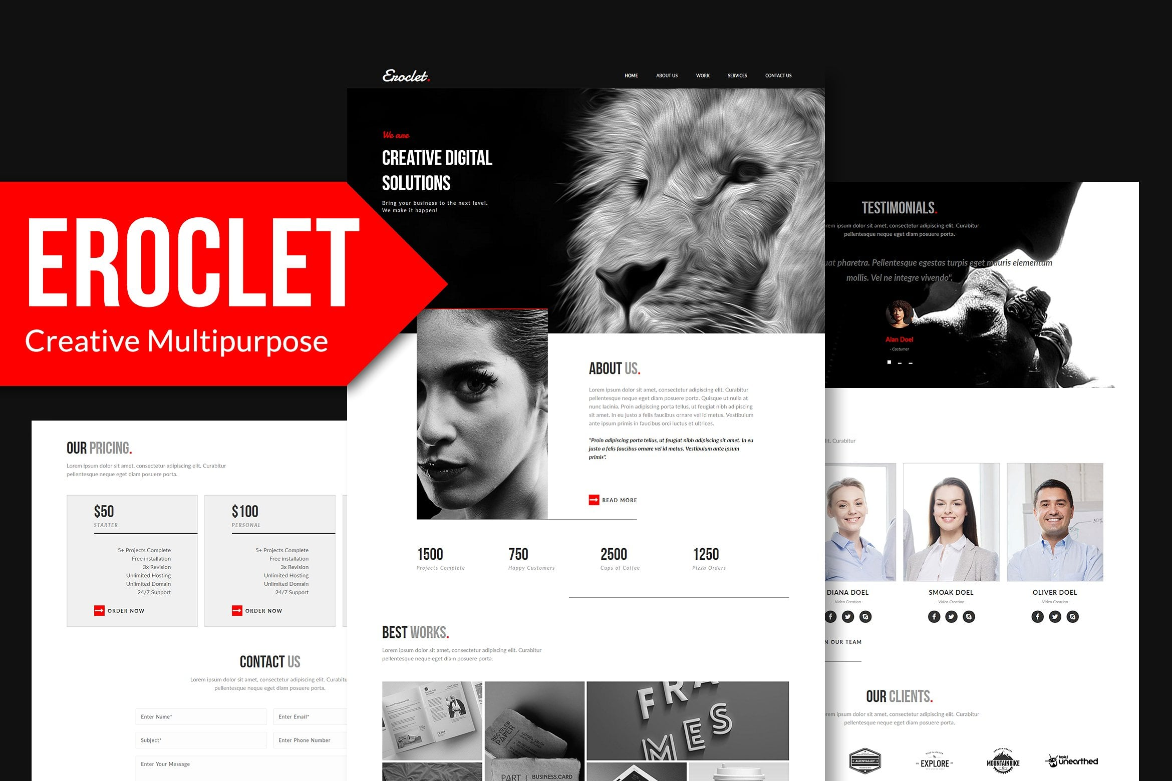 10 in 1 - Adobe Muse Template Bundle - Only $10 - eroclet