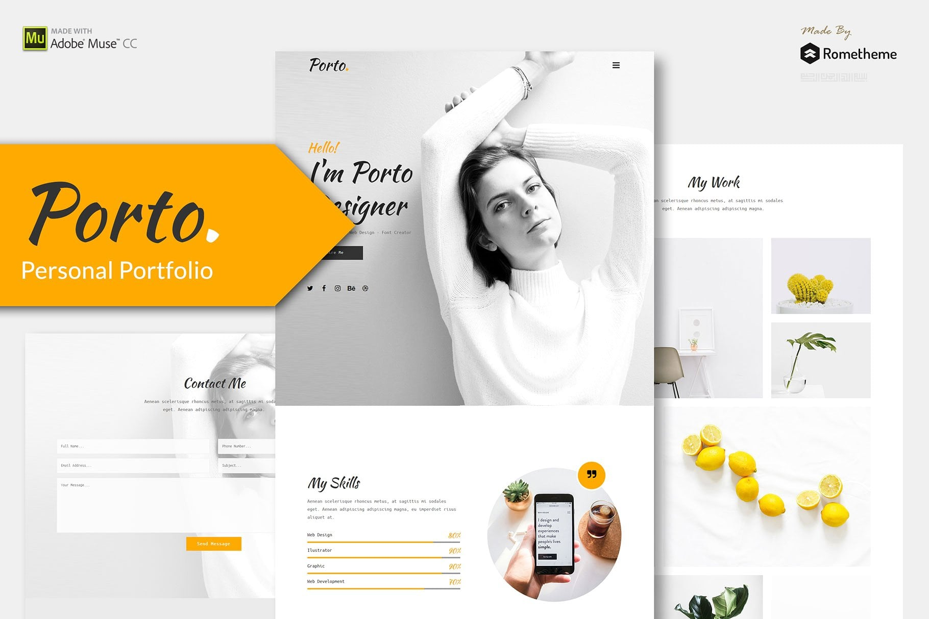 10 in 1 - Adobe Muse Template Bundle - Only $10 - preview 1 1