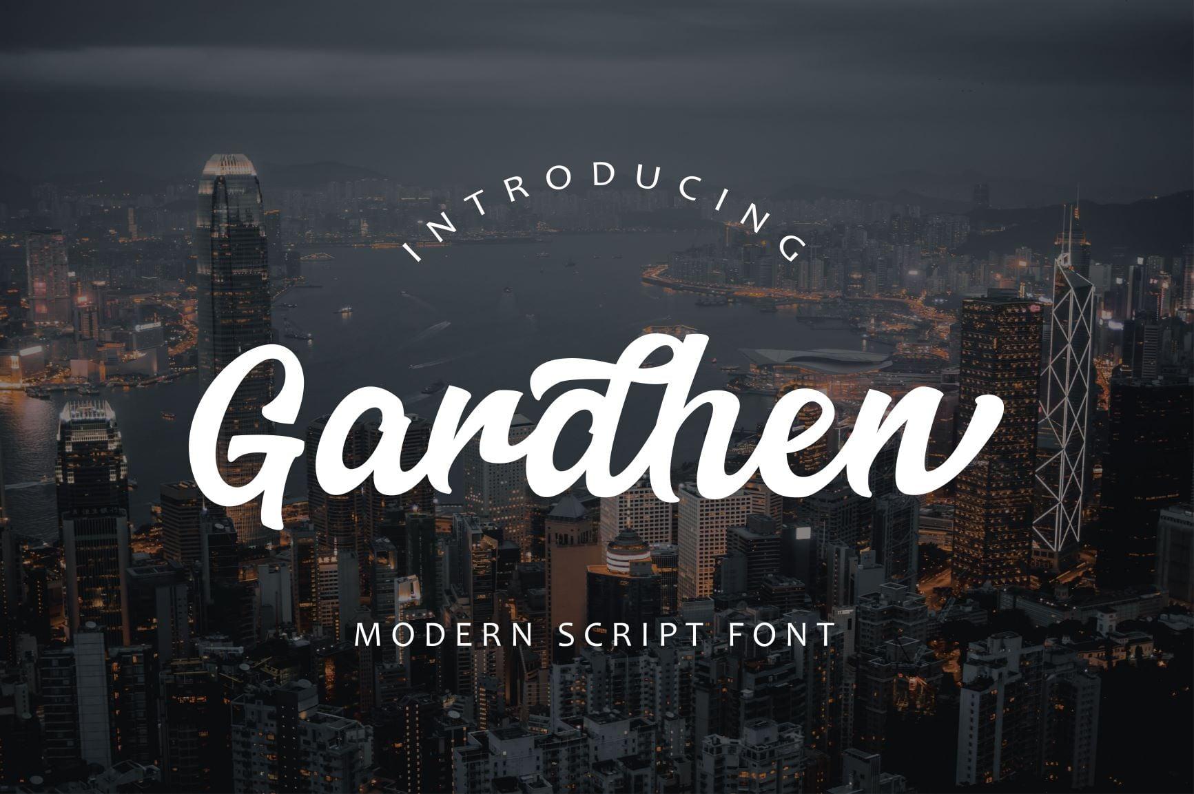 Gardhen Modern Script font