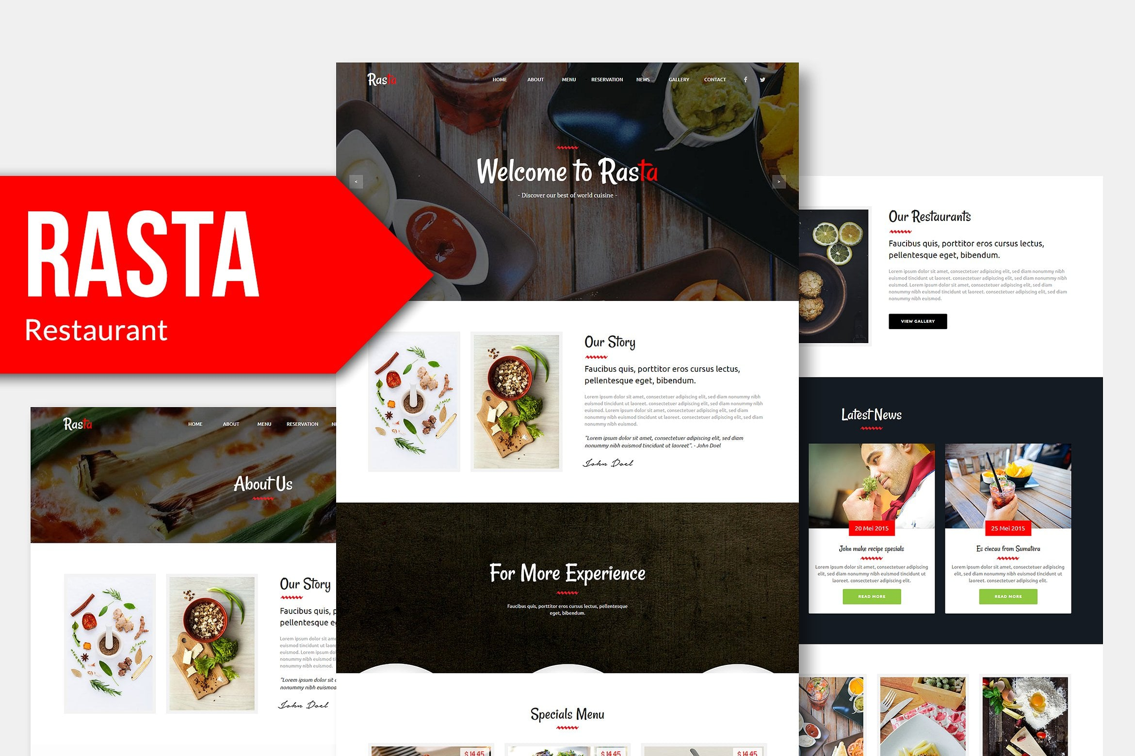 10 in 1 - Adobe Muse Template Bundle - Only $10 - rasta