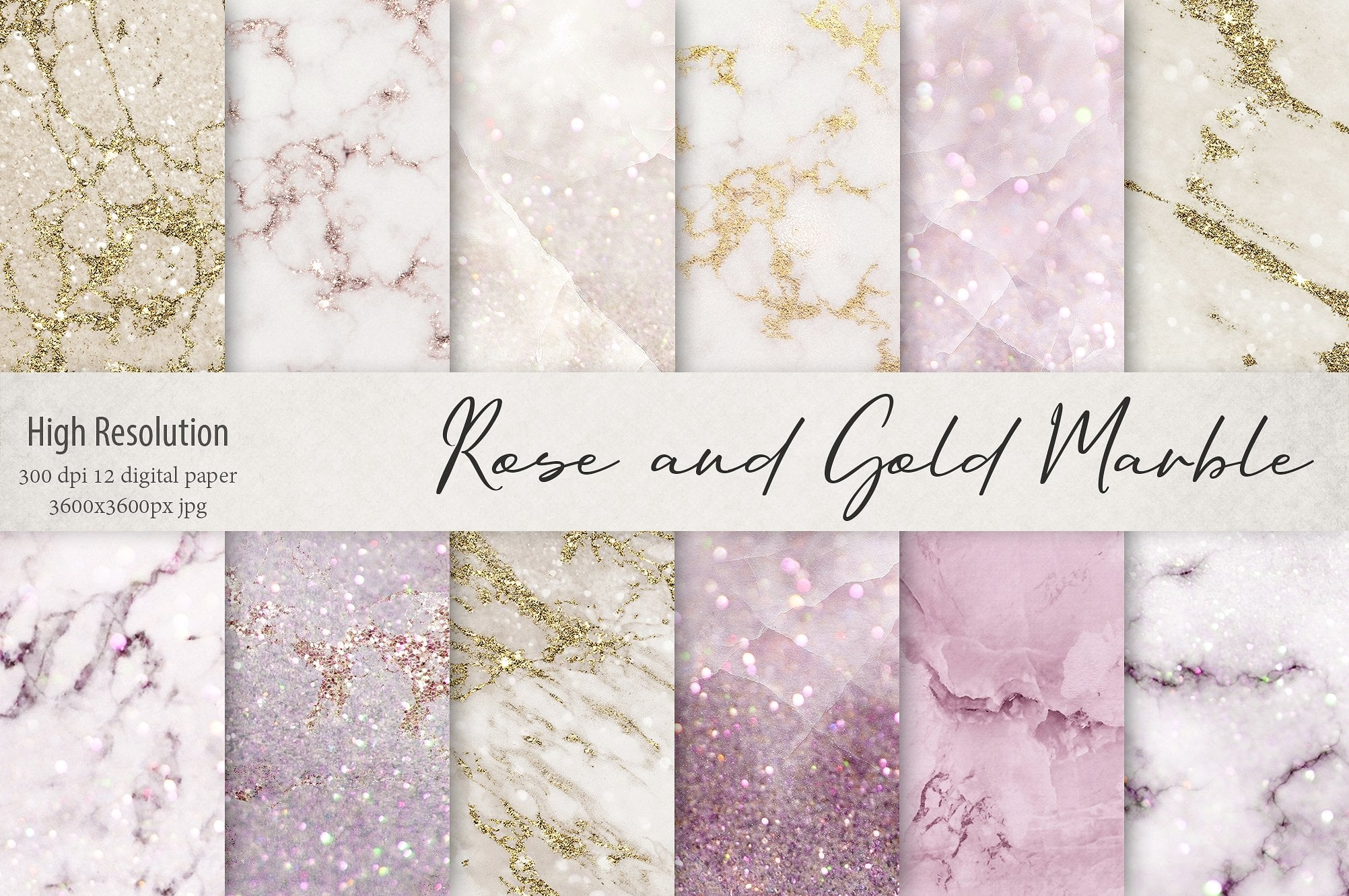 Rose and Gold Luxury Marble Textures