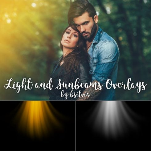 40 Light Overlays, Sunbeams Overlays, Light Leaks Photo Layer, Digital Backdrop, Natural sun Light Effects, Photoshop Overlays