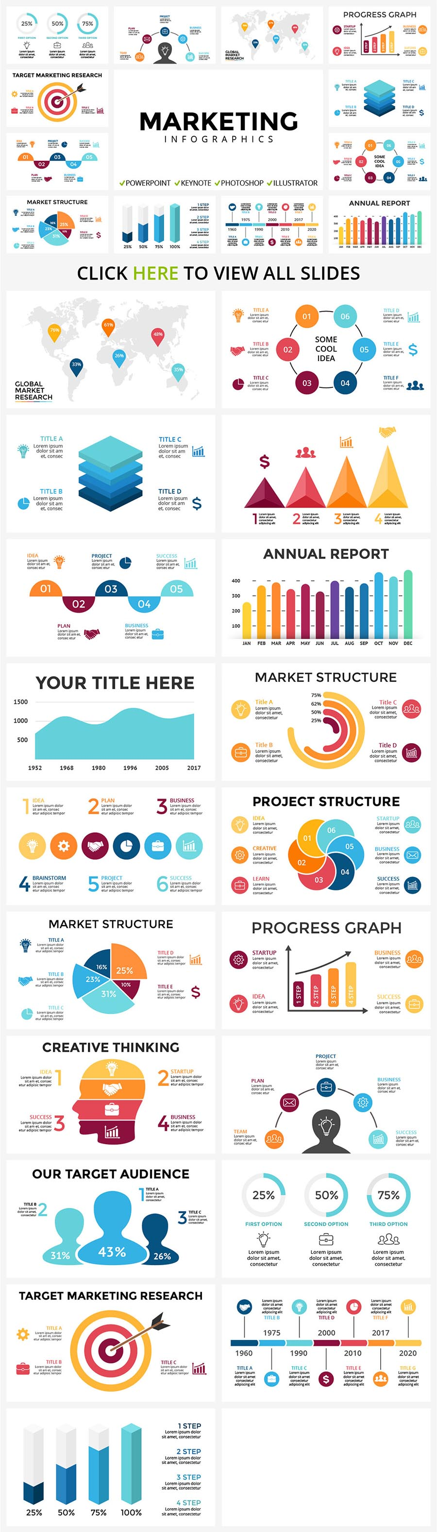 Great infographic for marketing presentations with memorable and vivid details.