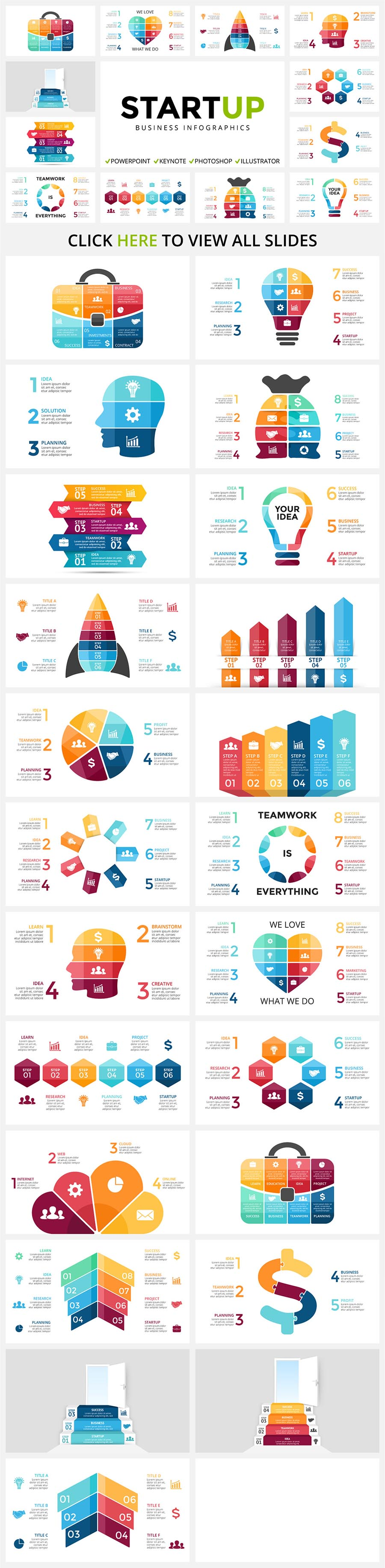Cool Infographics in 2020. Best Infographics Bundle: 1500 items - $29 - 06 STARTUP